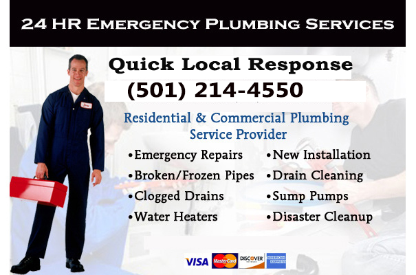emergency plumbers in Pine Bluff